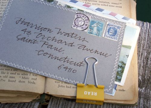 Calligraphy-primele-gray-stitched-envelope