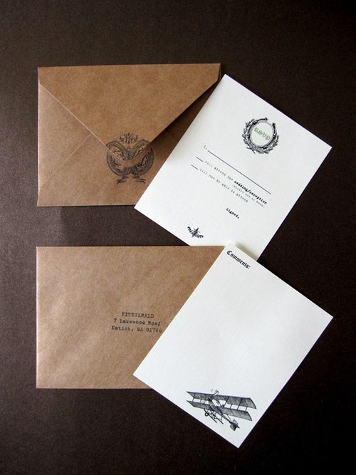 Flight-wedding-invitation