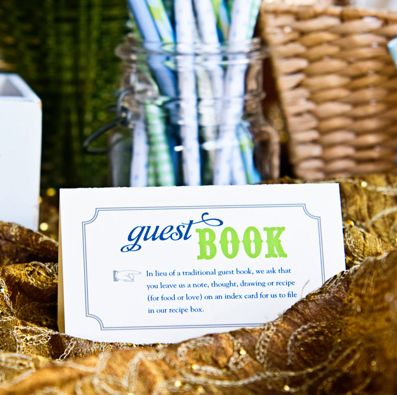 Erica-Tory-DIY-Blue-Lime-Green-Wedding-Guestbook