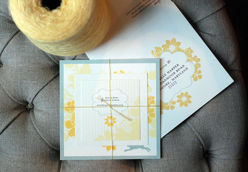 Yellow-gray-custom-baby-shower-invitations